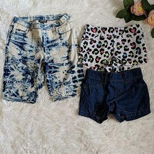 Lot of 3 Girls Summer Shorts